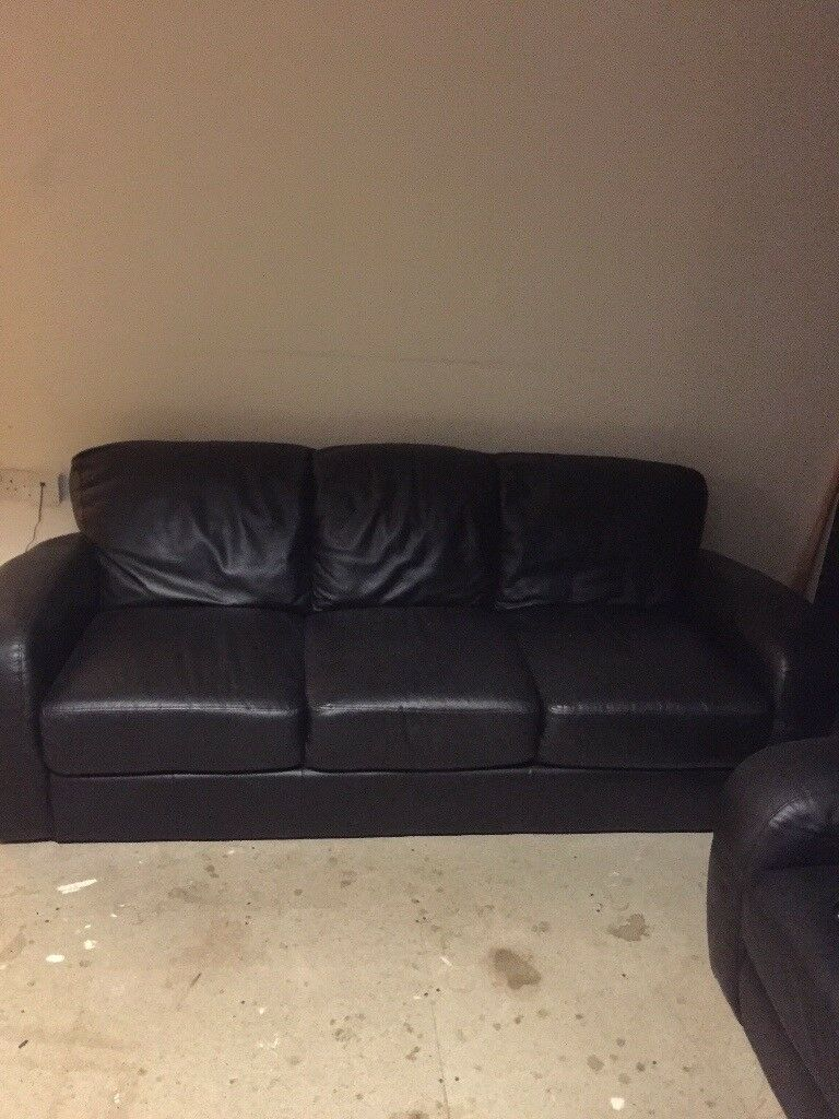 2x3 seater leather sofas