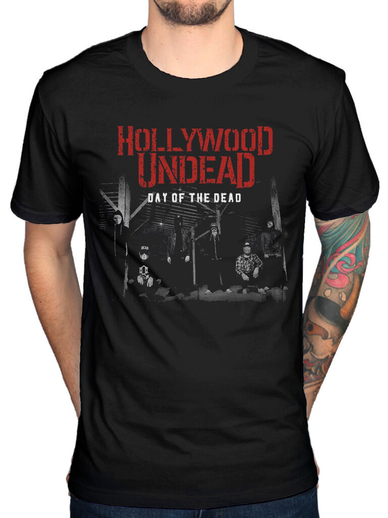 Official Hollywood Undead DOTD Faces T-Shirt Swan Songs V American Tragedy Band