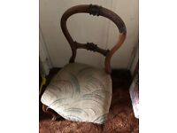 Solid Old Dining / Kitchen Table Chair for Restoration Up Cycling / Painting