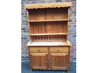 PINE DRESSER, FOLDING TABLE & 4 CHAIRS RIPE FOR UPSCALING