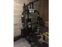 Multi gym,bench+bench bar,curling bar,dumbbell bars,lots of loose weights