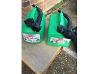 Break pads, petrol cans, car jack, in car storage