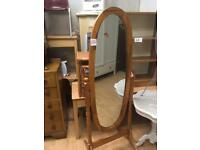 Pine free standing mirror