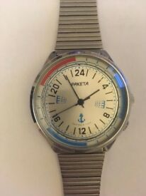 N.O.S Soviet watch RAKETA POLAR ANTARCTIC SUBMARINER 24 hours cal.2623.H