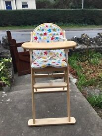 Mothercare Wooden High chair in great condition