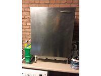 Fridge with stainless steel door