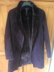 Women's Purple Sheepskin Coat (M & S)