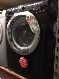 HOOVER 9KG 1600 SPIN A+++ BLACK WAHING MACHINE