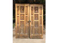 Carved Oak Doors