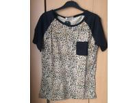 Leopard print small t-shirt