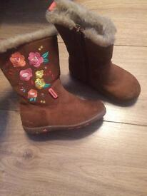 Girls Size 7 flowery boots from M&S