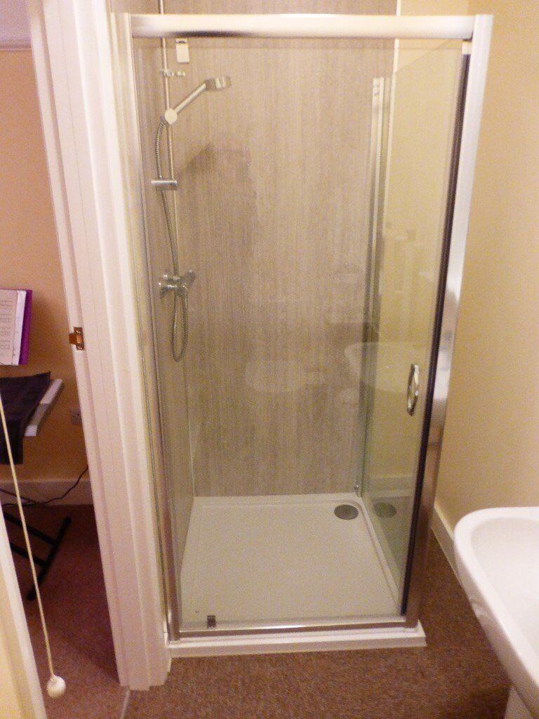 shower tray with glass enclosure, aluminium frame 900cm x 900cm ...