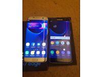 Samsung galaxy ×2 s7 edge black and silver
