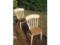 Pine kitchen farmhouse chairs (pair)