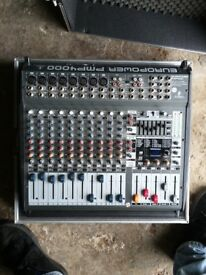 Behringer PMP 4000 Power mixer and Thon hard case