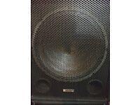 "Evolution 18"" active pre amp bass bins speakers"
