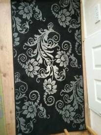 BLACK GREY & CREAM RUG. GOOD CONDITION
