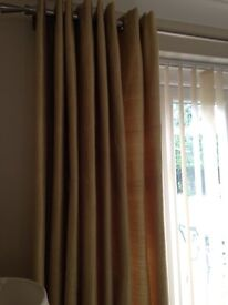 "Luxury silk lined curtains 50""W x 86""L"