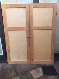 Pair of handmade Pine Doors