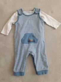 3-6 months M&S dungarees