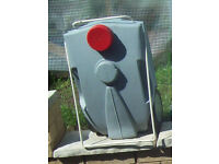 fiama grey waste water container with carrier handle good used condition