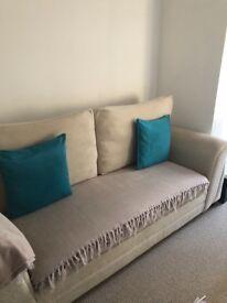 Next cream sofa bed