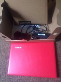 Red lenovo ideapad like new