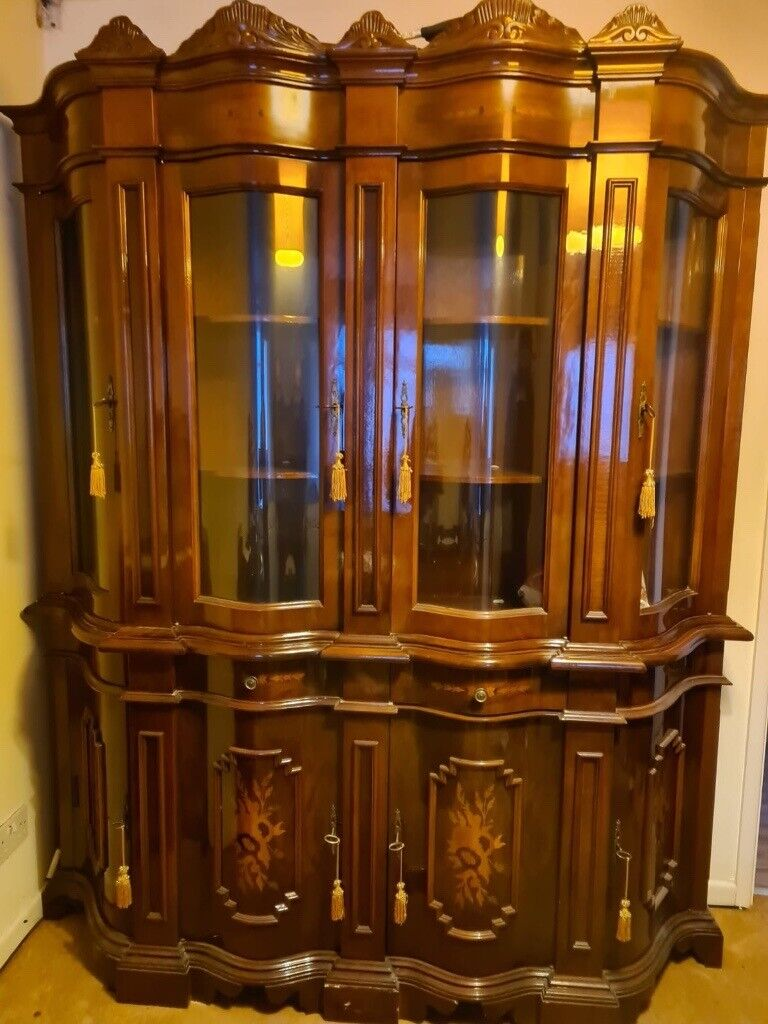 Vintage lovely Style Solid Mahogany Display Cabinet  for sale in ...
