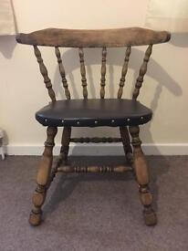 Beautiful old oak chair