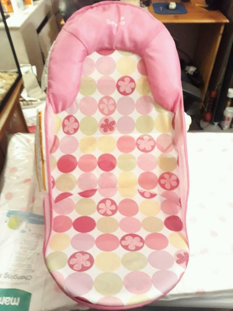 Pink New born bath