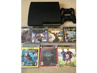 Playstation 3 320 GB With 2 Controllers & 7 Games