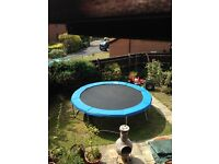 12 ft round Plum trampoline with protective waterproof cover