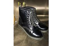 Women's Size 7 black Glossy Doc Martens