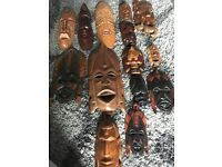 Selection of solid wood masks