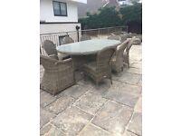 Bridgman wickerline beautiful garden furniture in excellent condition with new cushions