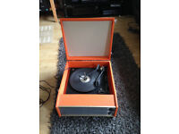 FREE vintage 1960s/70s orange record player, not working, spares/repair