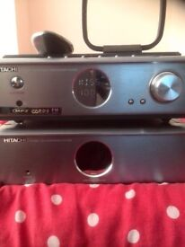 Hitachi AX-M69 Hi-Fi System with remote no speakers,or other speakers