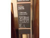 Brand New cream wooden curtain pole