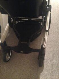 Mamas & Papas Sola2 MTX Pushchair-Black with Raincover and adapters