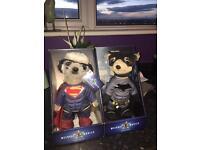 Batman & Superman Meerkat toys