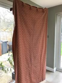 Pair of Laura Ashley lined curtains