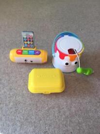 Fisher price and tomy toys
