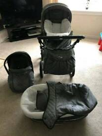 Babystyle 3 in one pram from birth to toddler all accessories included