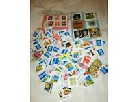 Collection of British postage stamps
