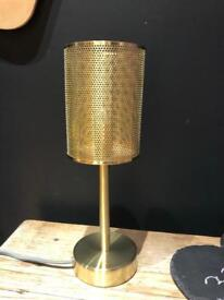 Stunning gold metal lamp light