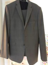 Men's grey suit: Ted Baker