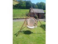 The ultimate swinging chair - Circa with Tripod and cushion