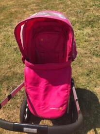Mothercare pink my3 pram