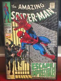 "spiderman comic cover canvas size 38"" x 25"""