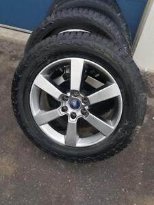 BRAND NEW 2018 FORD F150 20 INCH ALLOY WHEELS  WITH HIGH PERFORMANCE HANKOOK DYNAPRO  275 / 55 / 20  ALL SEASON TIRES.